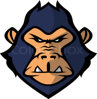 312x320 Danger Gorilla Monkey Mascot Stock Vector Colourbox