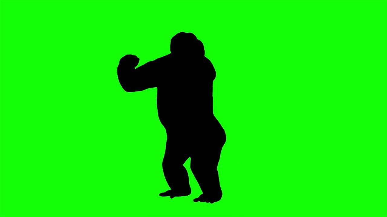 1280x720 Free Hd Video Backgrounds Animal Silhouette Gorilla Howl