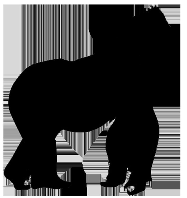 709x751 Gorilla Silhouette