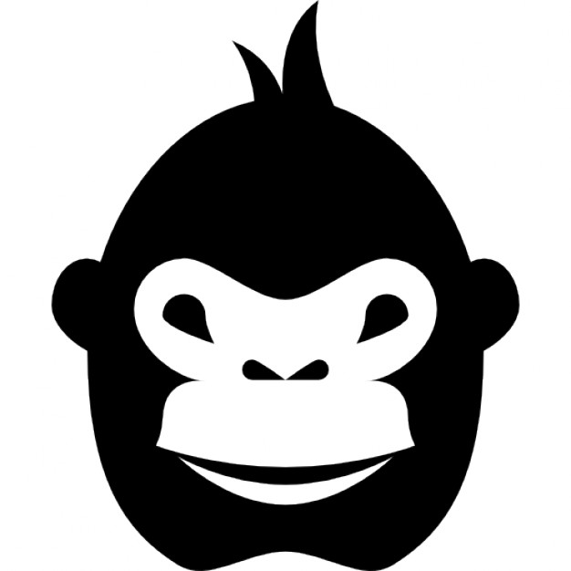 626x626 Gorilla Face Icons Free Download