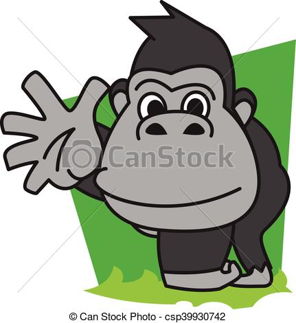 431x470 Gorilla Vector Art Illustration Eps Vector