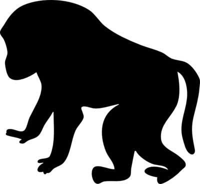 400x368 Free Baboon Vector Free Vector Download (3 Free Vector)