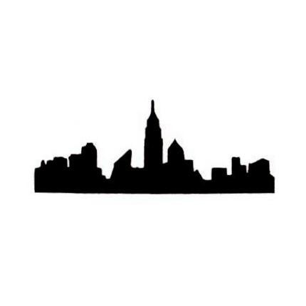 430x430 Free City Skyline Silhouette, Hanslodge Clip Art Collection