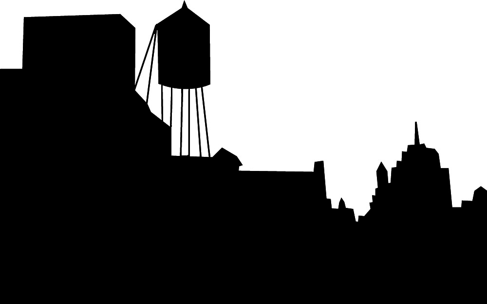 1000x626 Small City Outline Clipart Black And White Collection