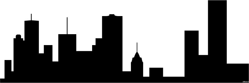 865x289 Generic City Skyline Silhouette