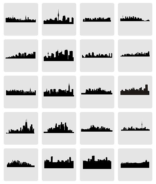 gotham skyline silhouette at getdrawings com free for personal use
