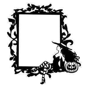 300x300 Silhouette Design Store Gothic Witch Frame Svg Halloweenfall