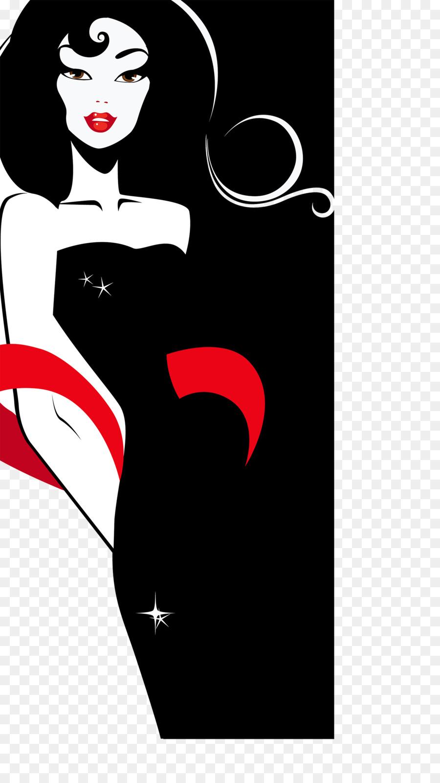 900x1600 Woman Silhouette Elegance Clip Art