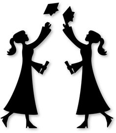 236x270 Graduation Silhouettes Can Be Used On Food Or Decorations