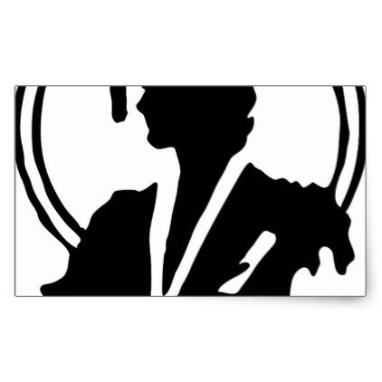 422x422 Female Graduate Silhouette Rectangular Sticker