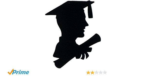 600x315 Boy Graduate Silhouette Party Accessory (1 Count