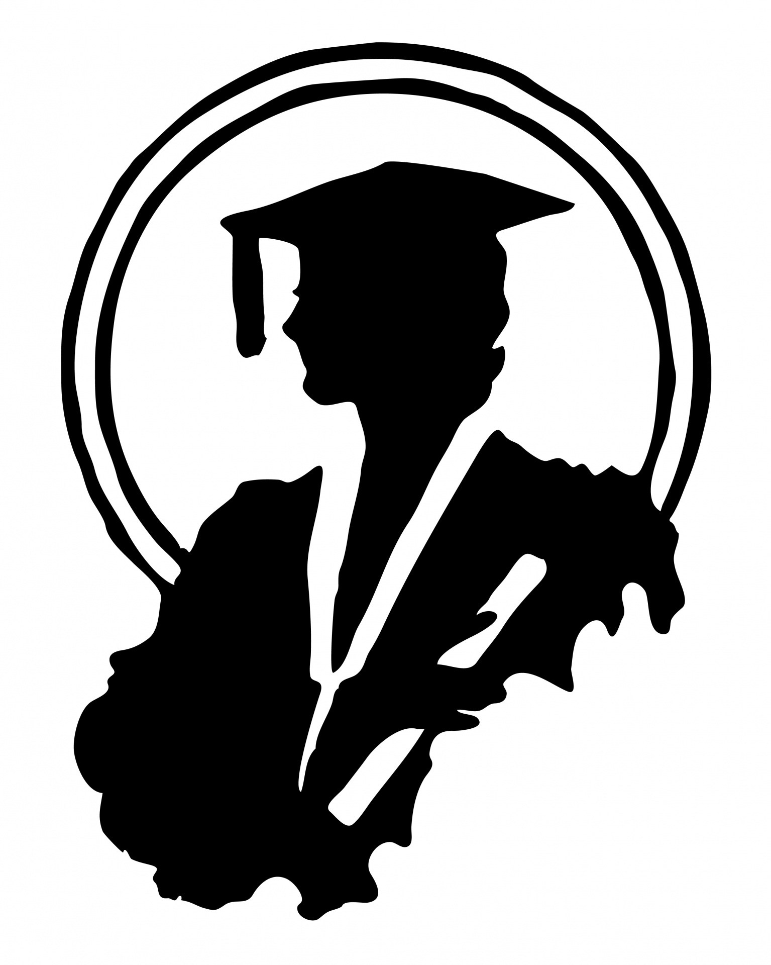 1535x1920 Female Graduate Silhouette Clipart Immaculate Conception School