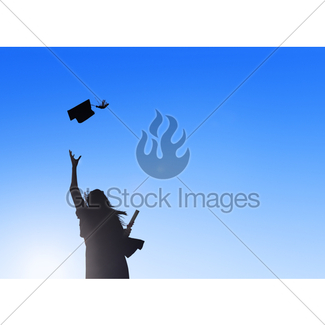 325x325 Students Silhouette Celebration Graduation Gl Stock Images