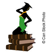 150x180 Female Graduate Illustration Silhouette Illustrations And Stock