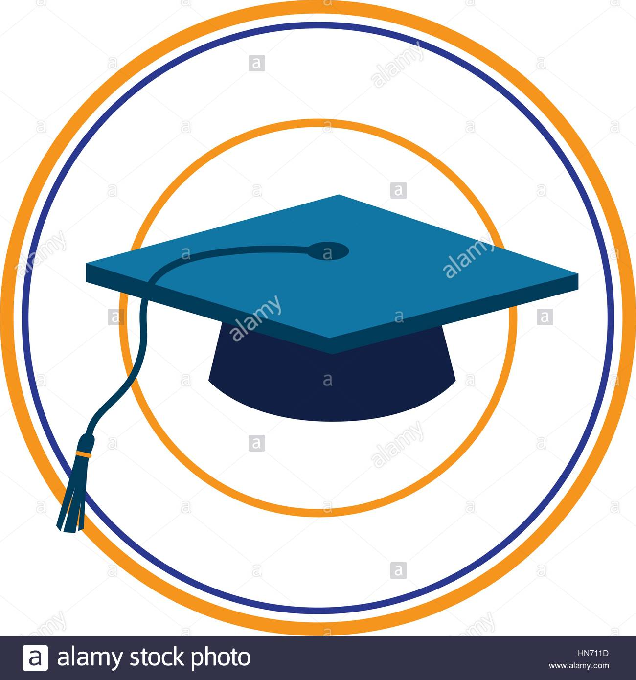 1300x1390 Color Silhouette With Dark Blue Graduation Cap In Circular Frame