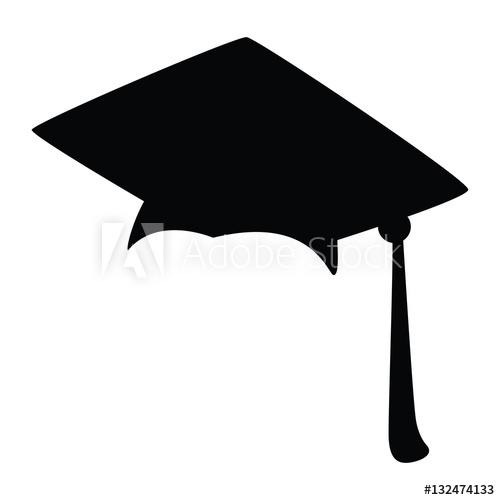 500x500 Graduation Cap, Silhouette