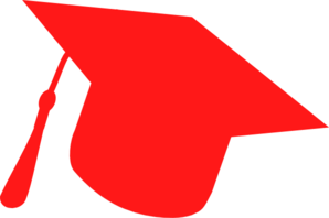 298x198 Graduation Hat Silhouette Red Clip Art