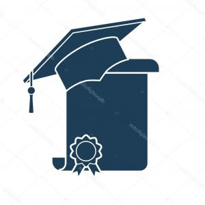 300x300 Photostock Vector Graduation Hat And Diploma Scroll Outline Vector