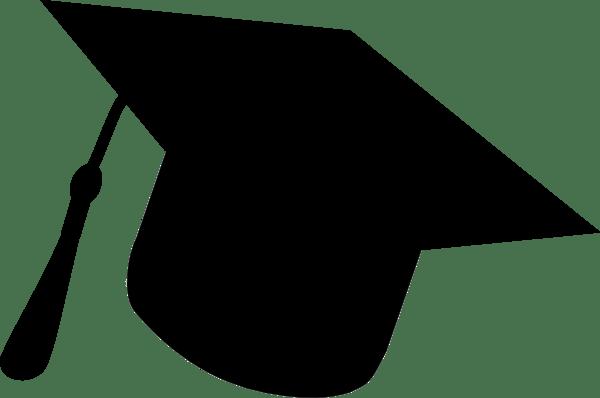 600x398 Graduation Cap Silhouette Clipart