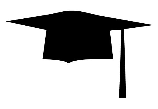 544x374 Graduation Hat Graduation Cap Silhouette Clipart Image