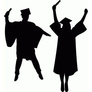 Graduation Silhouette at GetDrawings | Free download