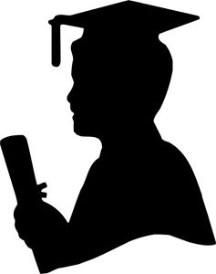 237x300 Die Cut Silhouette Graduation Male X 8 For Cardmaking