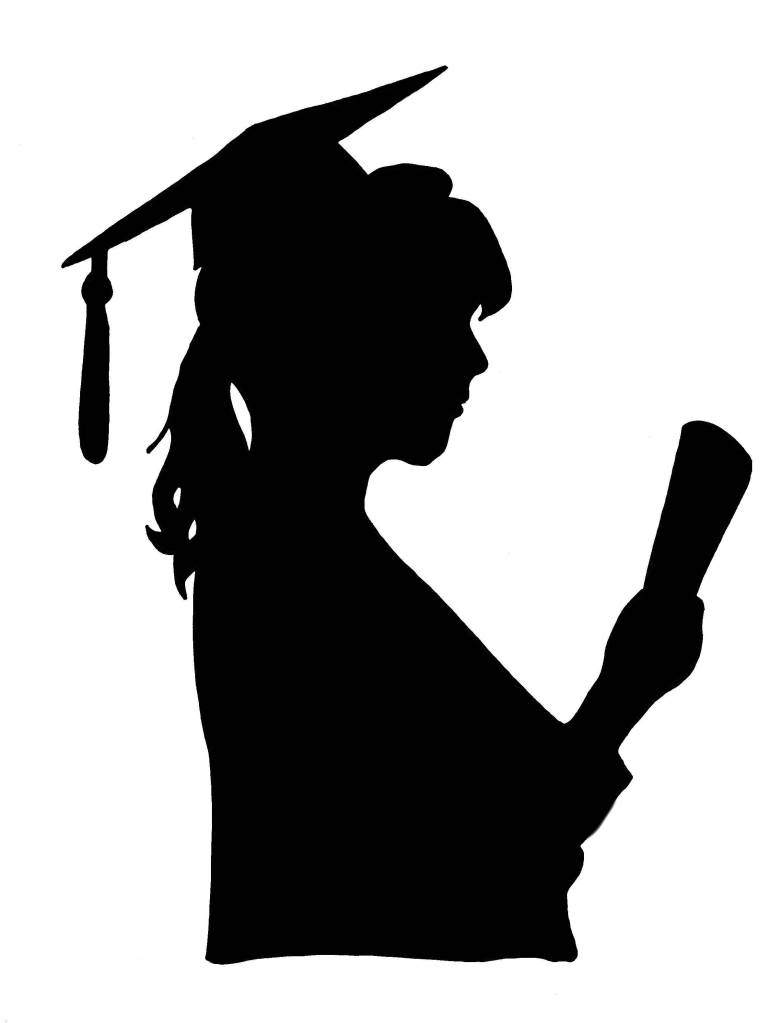 Graduation Silhouette Clip Art at GetDrawings | Free download