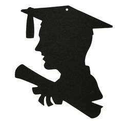 236x236 Graduation Silhouettes Can Be Used On Food Or Decorations