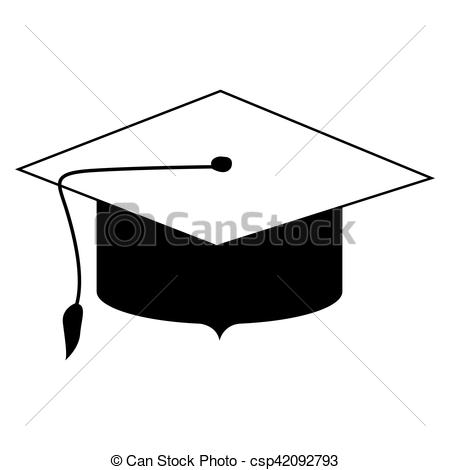 450x470 Black Silhouette Of Graduation Cap Vector Illustration Eps Vectors