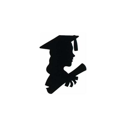 500x500 Graduation Girl Clip Art, Vector Image Illustrations
