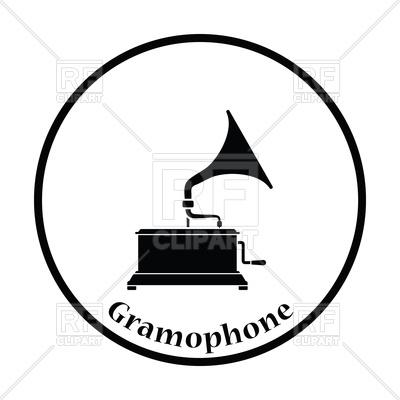 400x400 Gramophone Icon Royalty Free Vector Clip Art Image