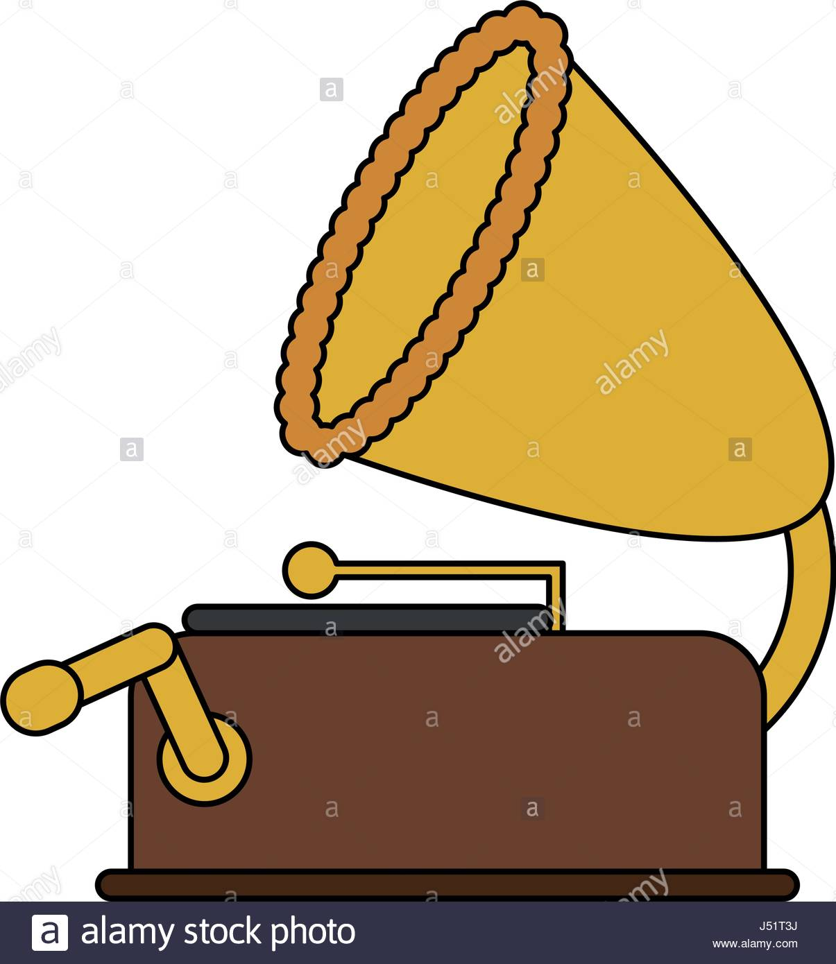 1205x1390 Color Image Old Gramophone Musical Sound Icon Stock Vector Art