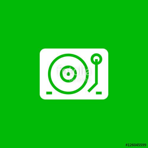 500x500 Dj Mixer Icon Vector, Clip Art. Gramophone Vector Symbol. Also