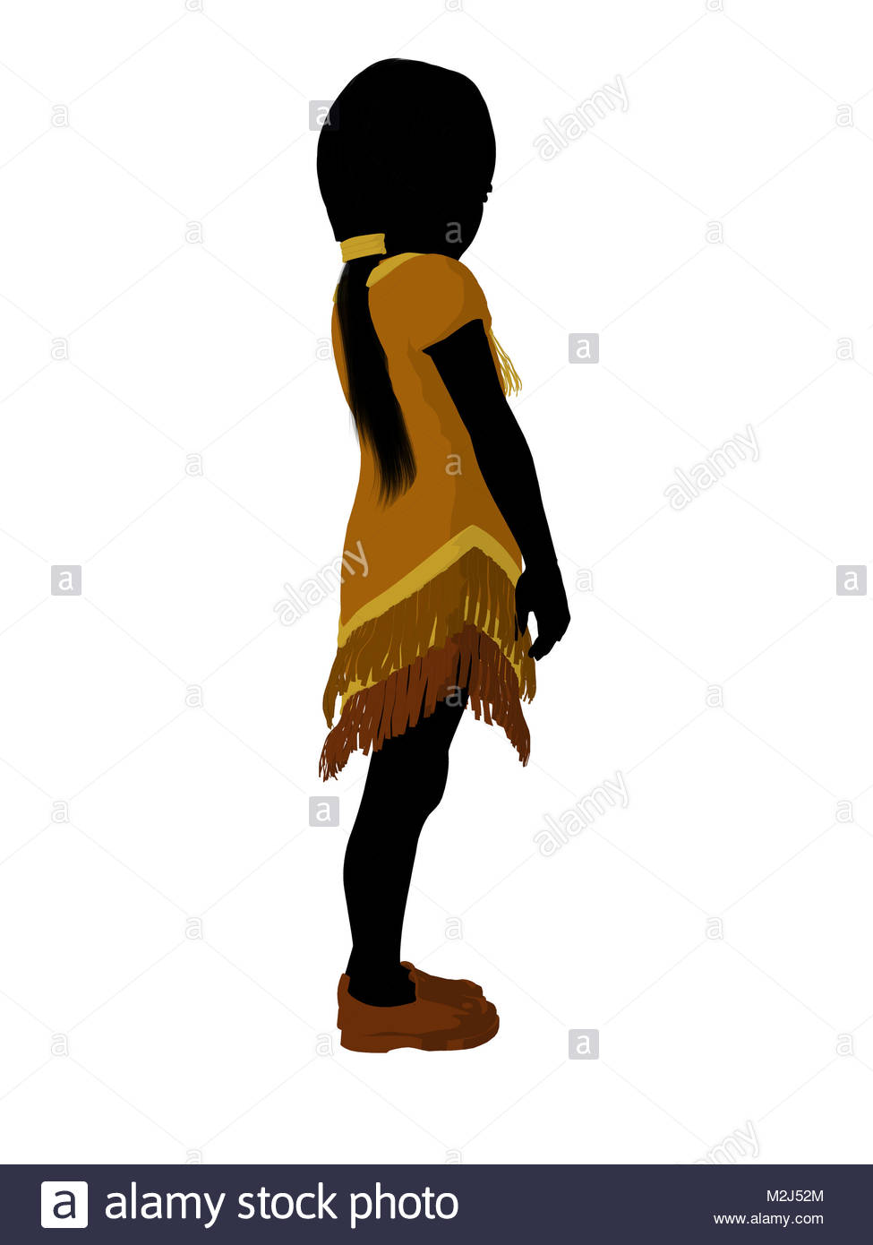 975x1390 Native American Indian Silhouette Illustration On A White