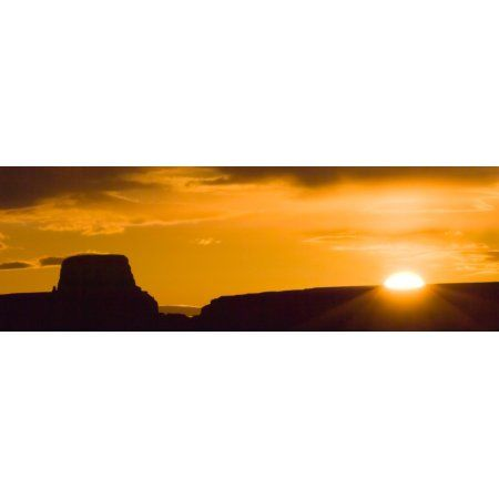 450x450 Silhouette Of Rock Formations