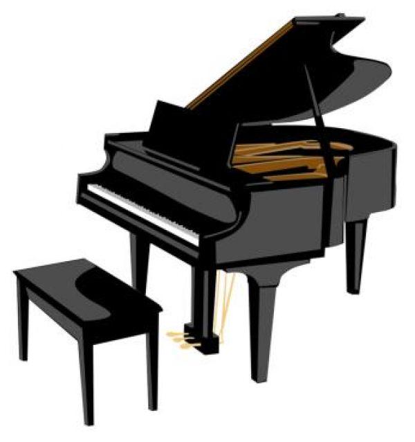 600x638 Piano Clipart