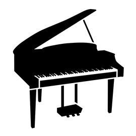 270x270 Piano Stencil D Silhouette Stenciling, Silhouettes