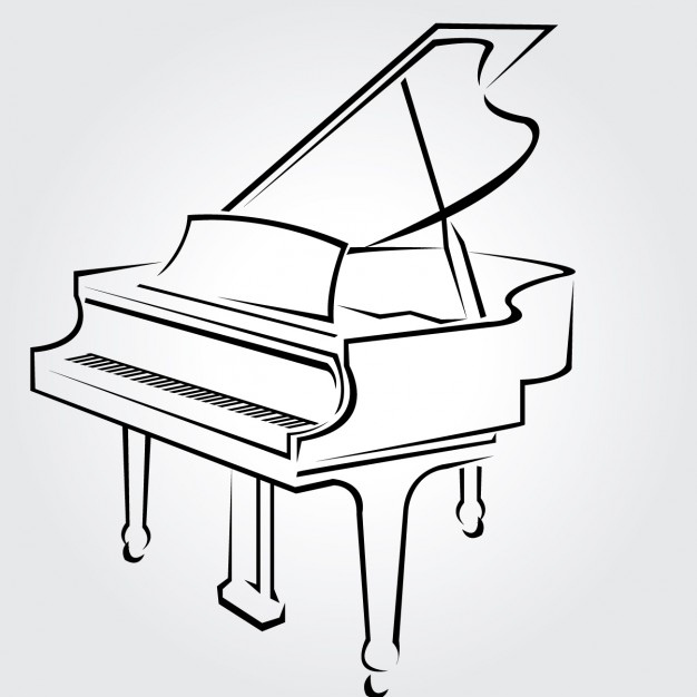 626x626 Piano Clipart Outline