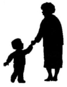231x300 8 X Lrg Gran Grandma Nanna Holding Childs Hand Silhouettes