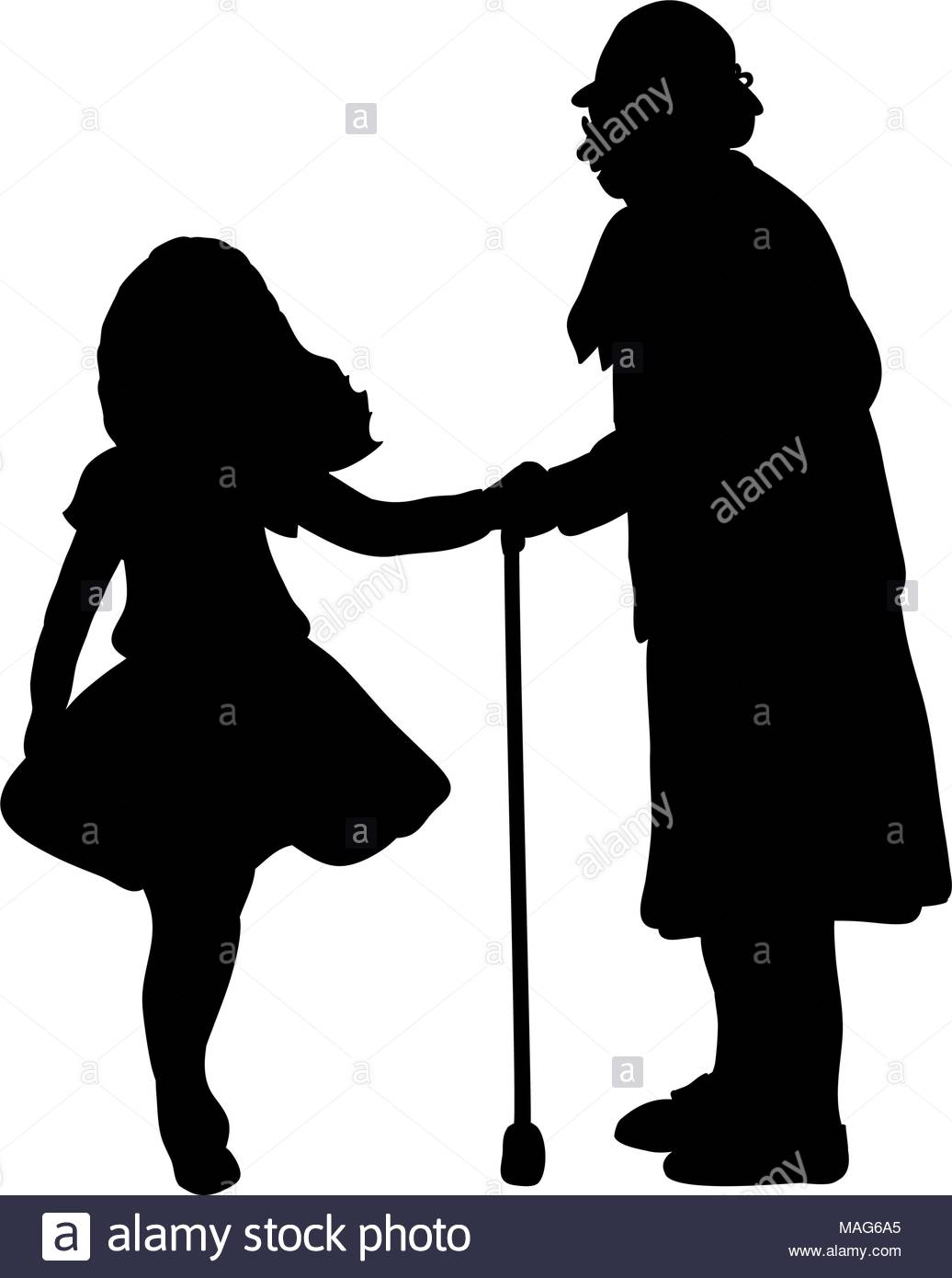1036x1390 Grandma And Child Stock Vector Images