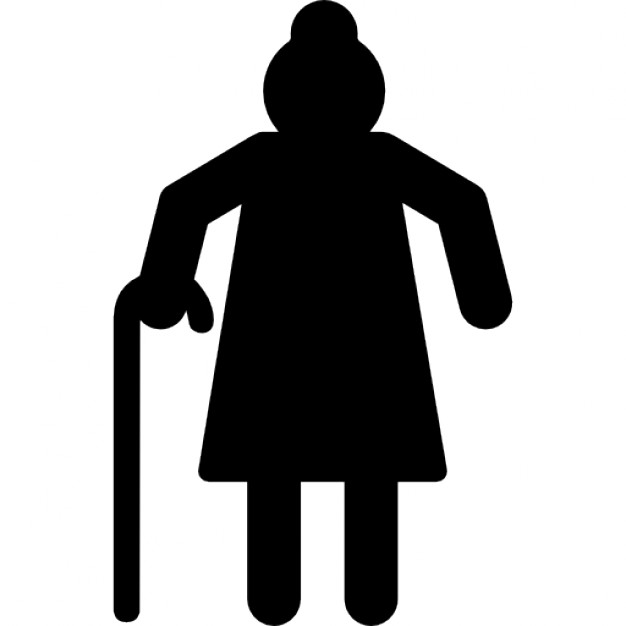626x626 Grandmother Silhouette Icons Free Download