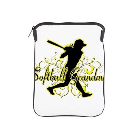 460x460 Softball Grandma (Silhouette) Ipad Sleeve By Magiksportstees