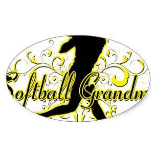 307x307 Softball Grandma Stickers Zazzle