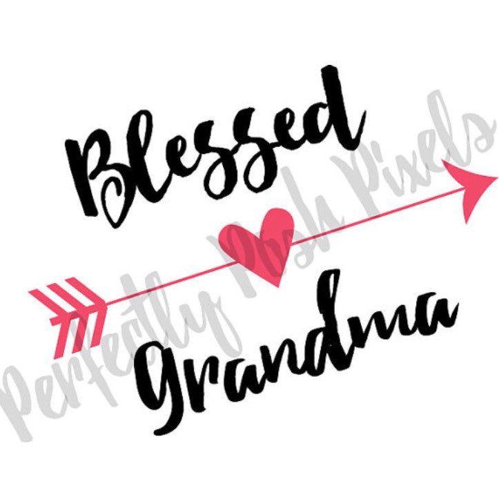 723x723 Blessed Grandma Heart Arrow Svg Clip Art Cut Files Valentine Arrow