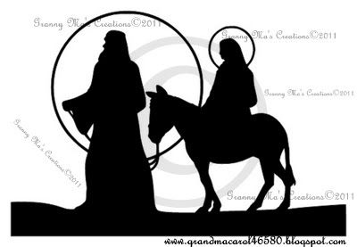 400x277 Granny Ma's Creative Blog A Nativity Silhouette Advent Ideas