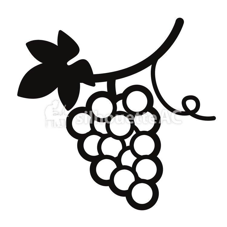 750x750 Free Silhouette Vector A Vine, Grape, Icon