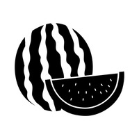 200x200 Shape Shapes Silhouette Silhouettes Cutout Cut Out Fruit Fruits