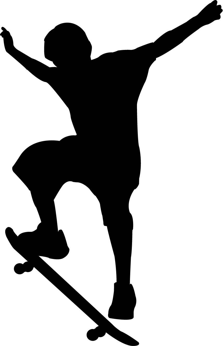 856x1324 Sports Silhouette Wall Decals