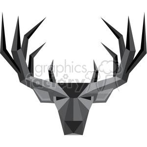 300x300 Royalty Free Geometric Buck Illustration Silhouette Geometry Logo