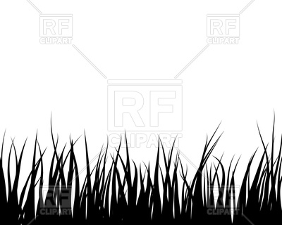 400x320 Black Grass Silhouette Royalty Free Vector Clip Art Image